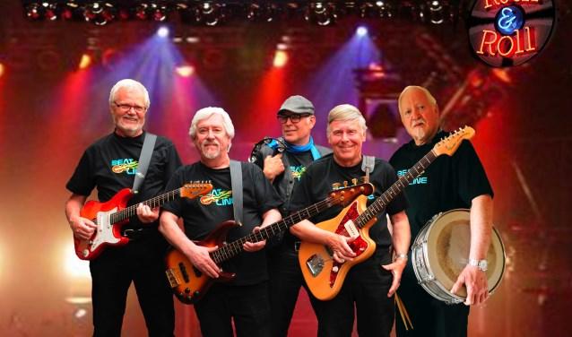 Beatline uit Eibergen is een van bands tijdens Beatnostalgie in Kösterskoele op Hemelvaartsdag.
