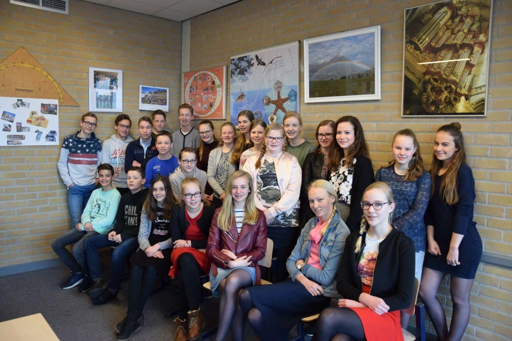De klas van dochter Vera. Foto: Jacobus Fruytier © Persgroep