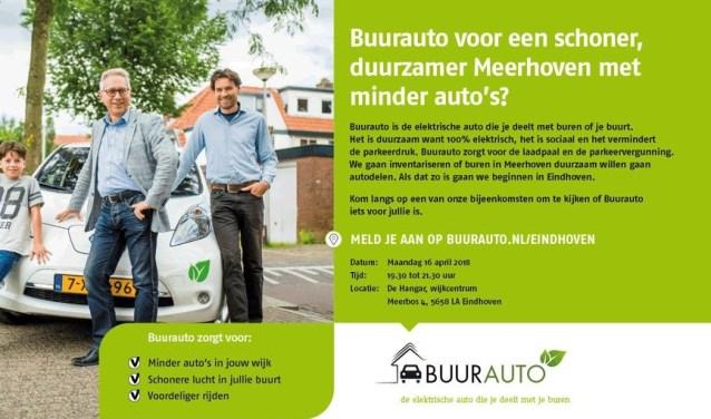 Met de buren of met andere inwoners van de wijk een elektrische auto delen, is binnenkort ook in Meerhoven mogelijk.