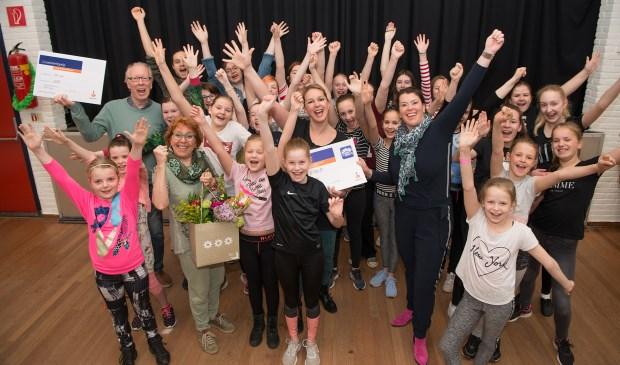 LUSA wint de derde prijs voor de meest creatieve campagne tijdens de Rabobank Clubkas Campagne. Eigen foto