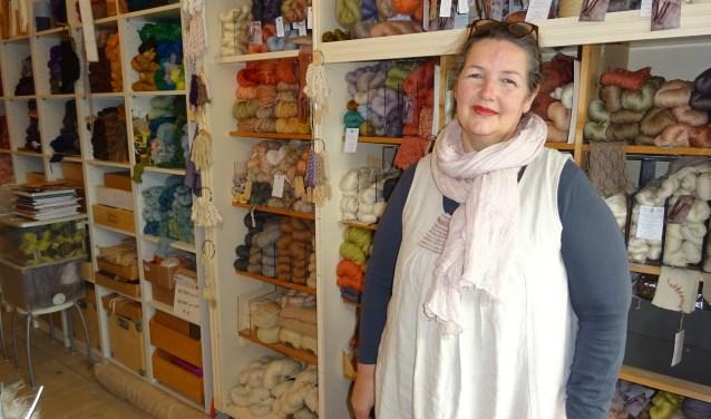 Marijke Bongers is een echte textiel-fan. (Foto: Eline Lohman)