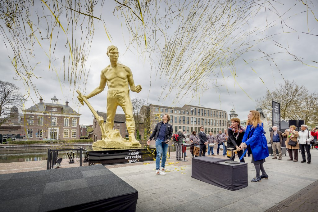 In 2017 stond De Gouden Ploeger tijdens de Museumweek op het Havenplein. Foto: Jorrit Lousberg.