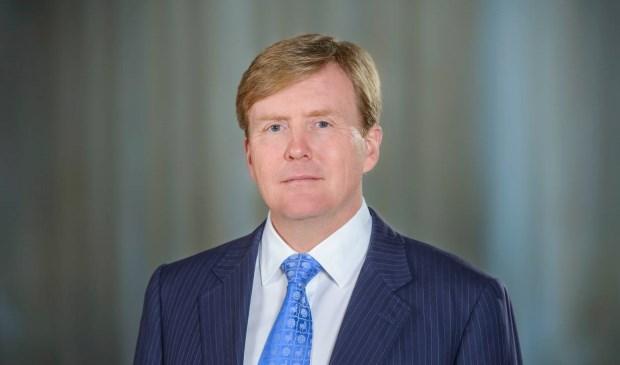 Koning Willem-Alexander opent op 13 april de nieuwe compostfabriek van CNC Grondstoffen.  (foto RVD - Jeroen van der Meyde)