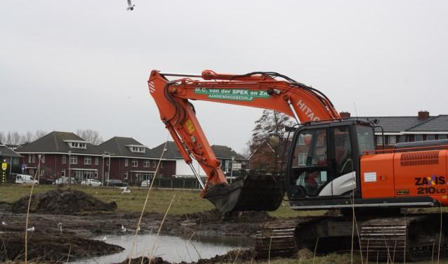Ook aan de Gemeentewerf in Berkel en Rodenrijs gaat de schop de grond in. Berkel en Rodenrijs bouwt door voor alle doelgroepen. Foto: GvL.