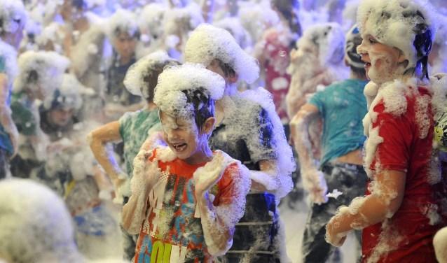 Ook dit jaar staat er een schuimparty op het programma tijdens het Wijkfeest Slangenbeek.