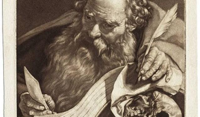 Apostel Paulus door Nicolaes Verkolje naar Adriaen van Linschoten