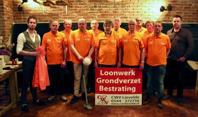 De drie teams van Boerengolfteam Lievelde zijn klaar voor de competitie.