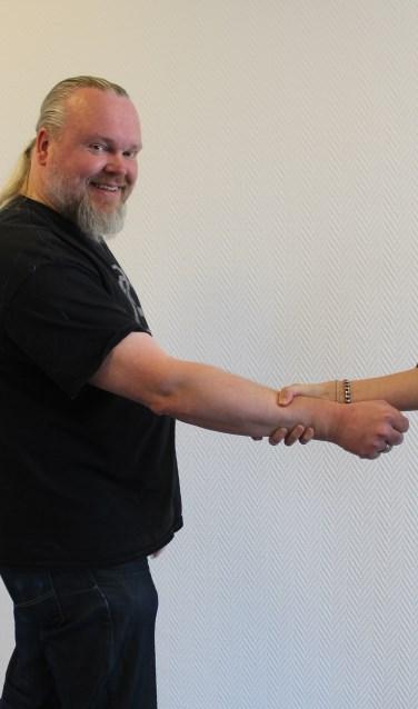 Mark Mulder verzorgt weerbaarheidstrainingen voor de werknemers van TMZ.