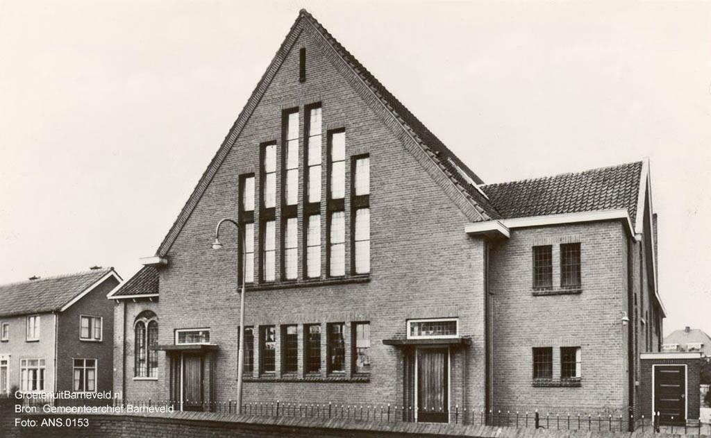 Gereformeerde Gemeente Barneveld. Bron: gemeentearchief Barneveld.  Foto: Robert van Kralingen / gemeentearchief Barneveld © Persgroep