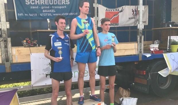 Sander Demmers van Atletiekclub Waalwijk heeft zaterdag gewonnen tijdens de Lenteloop in Brakel.