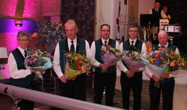 Tijdens het concert werden maar liefst vijf jubilarissen gehuldigd Eigen foto