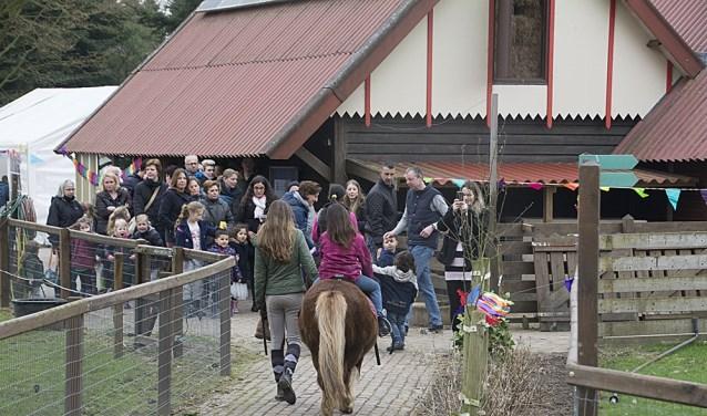 Het ponyrijden was een groot succes.
