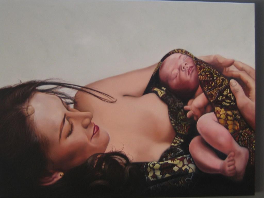 Een van de geëxposeerde werken is getiteld 'Kostbaarste geschenk', een inzending van Hanneke van Veldhuysen-Welgraven.  © Persgroep