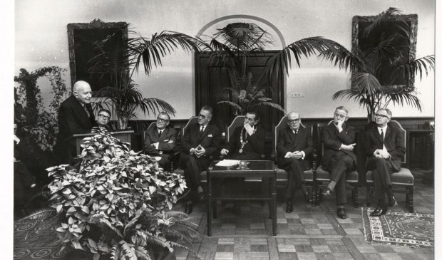 Dankwoord Baron Speyart van Woerden in het stadhuis van Breda: Foto: beeldcollectie B. Speekenbrink 19670477.