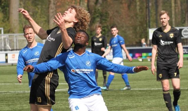 Het werd eenwedstrijd met in de eerste helft iets meer overwicht van Winterswijk. Maar de kansen van die ploeg werden allemaal om zeep geholpen.