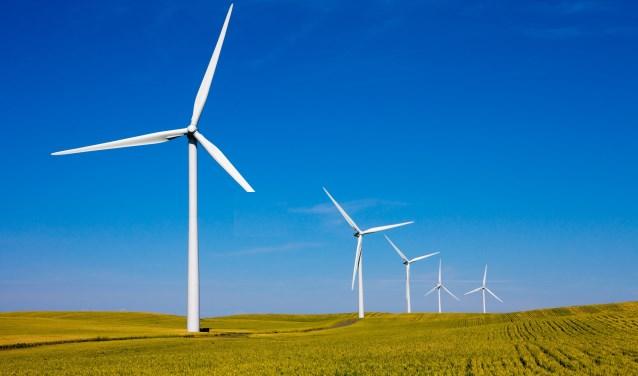 Afbeelding ter illustratie. De vier windmolens van Windpark Bijvanck krijgen een ashoogte tussen de 99 en 124 meter. De rotordiameter wordt minimaal 100 meter en maximaal 122 meter. (foto: Shutterstock)
