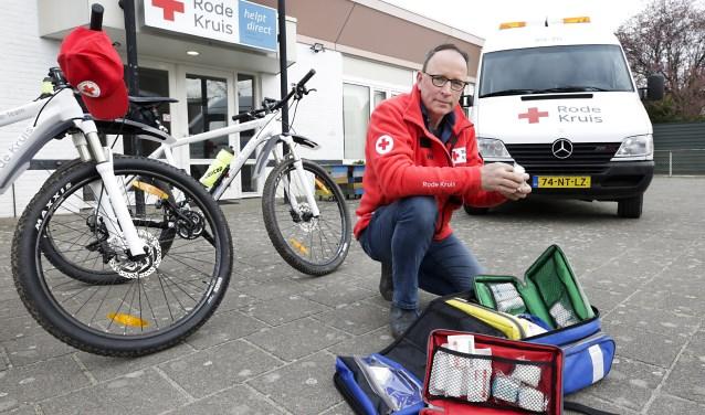 Theo Geldens, de voorzitter van de nieuwe afdeling Valkenswaard/A2 van het Rode Kruis. Foto: Jurgen van Hoof.