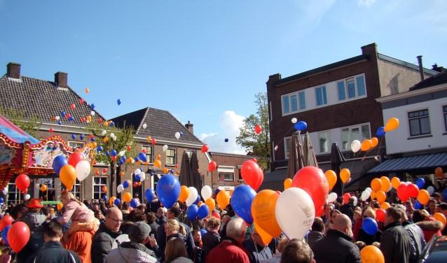 Koningsdag was ook vorig jaar weer een groot succes in Aalten.
