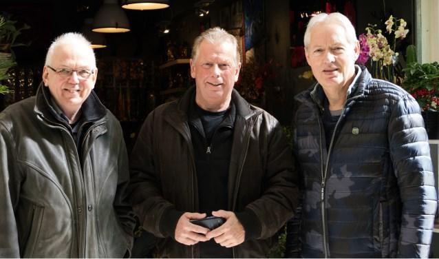 Louis Trousset, Paul Snellink en Jenne van der Velde (vlnr) willen iets doen tegen de vereenzaming van ouderen in de Helmerhoek.