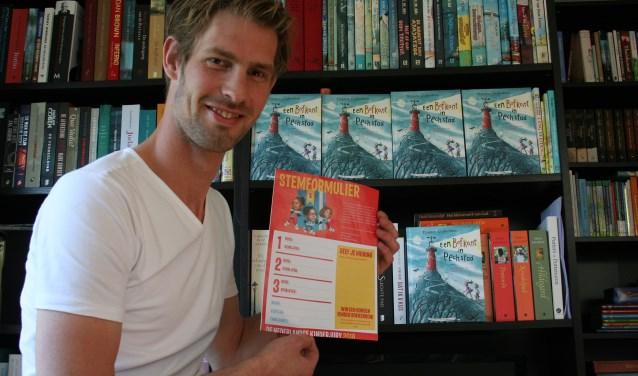 Het kinderboek 'Een bofkont in Pechstad' van Thijmen Gijsbertsen is genomineerd voor de Hotze de Roosprijs en het boek doet ook mee voor de prijzen van de Nederlandse Kinderjury. Foto: Annemieke Westphal-Kreeftmeijer