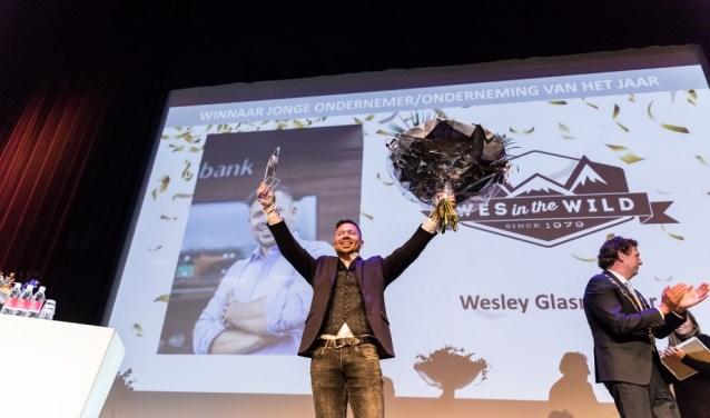 Wesley Glasmacher, Wesinthewild.com, winnaar Jonge Ondernemer 2017.  (Foto: Fabian Boot)
