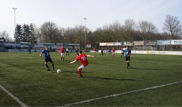 Wedstrijdbeeld uit een duel van JVC Cuijk van dit seizoen. (foto: Sander Berends)