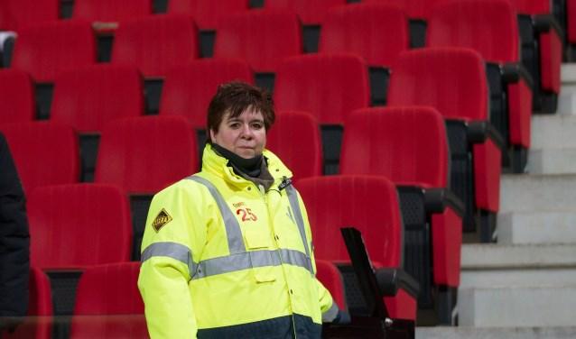 """,,Als steward merk je dat je een band creëert met de supporters."""" (Foto: Henny Meyerink)"""