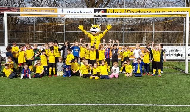 De DCS Mini Spelinstuif werd druk bezocht door zo'n vijftig jonge spelers. (Foto: Leon van Zimmeren)