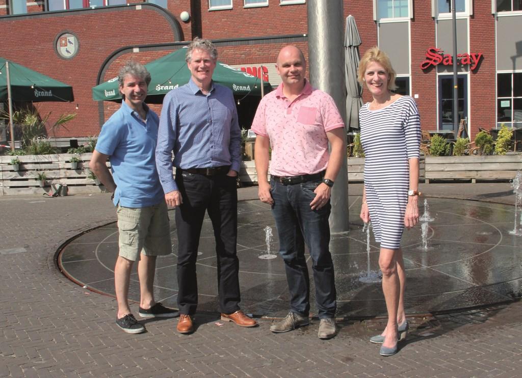 V.l.n.r.: Maarten van der Geet, Dick Duimel, Peter Houthuijzen en Ineke Knuiman.