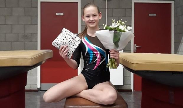 Zara Dirks werd allround 14e en mag nu deelnemen aan het districtskampioenschap.