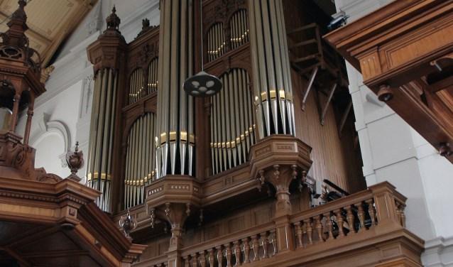 Het orgel in de Grote Kerk te Apeldoorn waar zaterdag 19 mei een psalmzangavond wordt gehouden.