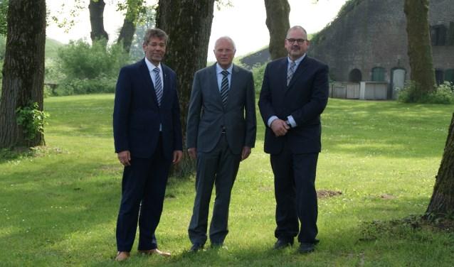 Op de foto van links naar rechts Izak Koedoot, Machiel de Gelder en Wijnand van der Hoeven.
