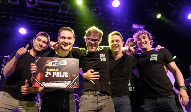 De Zwijndrechtse band No More Heroes wonnen eerder de halve finale en in de finale eindigde de band op een tweede plaats. (FOTO: Danny van der Weck)
