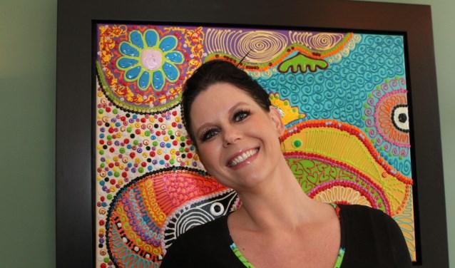 """Bianca Leusink kan zich nu weer helemaal op haar grote passie, het schilderen, storten: """"En me weer kunstenaar voelen."""""""