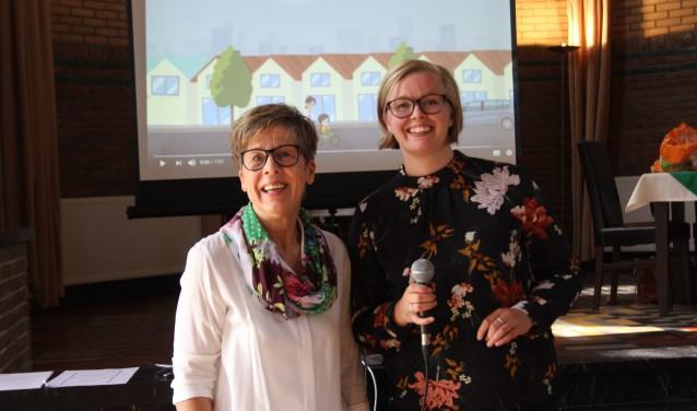 Elly Vissers en Ingrid Smit staan vanaf heden samen aan het roer van buurtbemiddeling Meierijstad dat recent officieel het startschot kreeg. Foto: Wendy van Lijssel