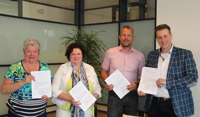 De gemeenten Dinkelland en Tubbergen, de GoOV en CATA hebben een dienstverleningsoverkomst ondertekend.