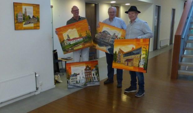 Van links af Gerrit Jansen, Adri van Drielen en Rudy Spanhak.