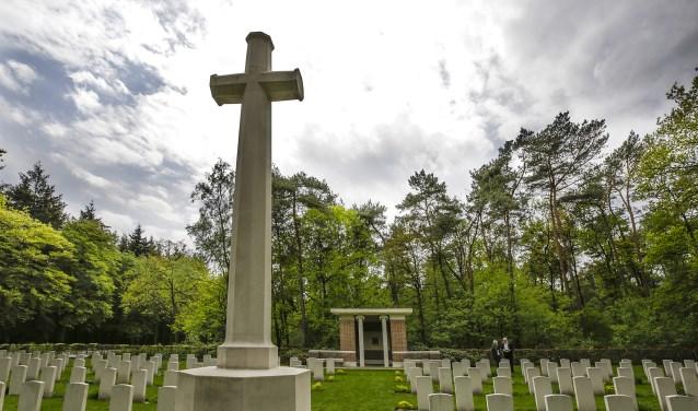 De Britse Begraafplaats aan de Luikerweg waar op 4 mei de jaarlijkse dodenherdenking  zal plaatsvinden. Foto: Jurgen van Hoof.