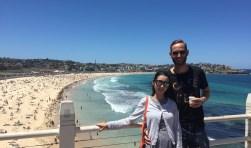 Victor en zijn Chinese vrouw Stephanie wonen momenteel in Australië. Op deze foto is ze nog zwanger, maar maandag 7 mei is hun dochtertje Lucienne geboren.
