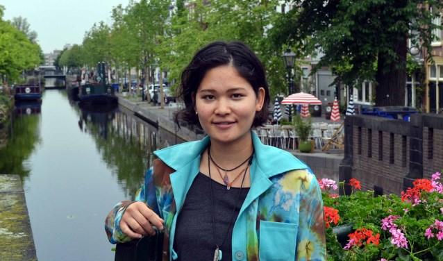 Anna Notsu had veel eerder onze stad willen bezoeken.(foto: Jos van Leeuwen)