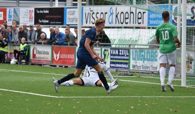 JVC-aanvaller Jordie van der Laan komt volgend seizoen uit voor DOVO. Foto: voetbal-shoot.