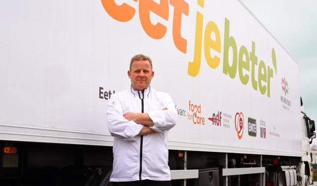 De foodtruck van EetJeBeter met chef-kok Robert Danse staat op 11, 12 en 14 mei op het Chasséveld in Breda.
