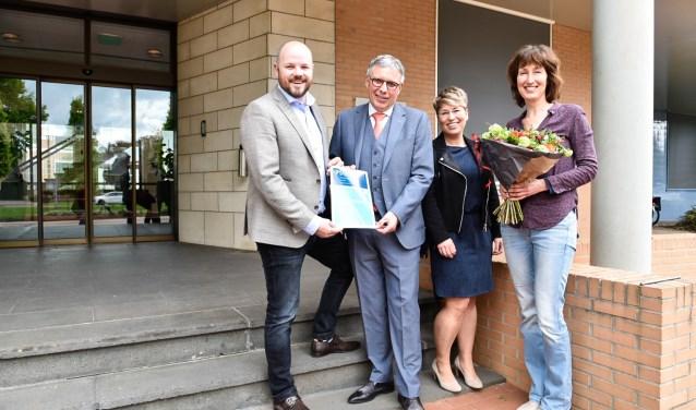 Van links naar rechts: Yuri Starrenburg, Henk Robben, Mariska Çubuk en Agnes Brouwer. Foto: Nienke Runneboom.