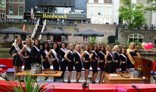 Mrs Universe Netherlands finalisten tijdens hun 'dagje Utrecht'. Foto: Johan Morgenstond