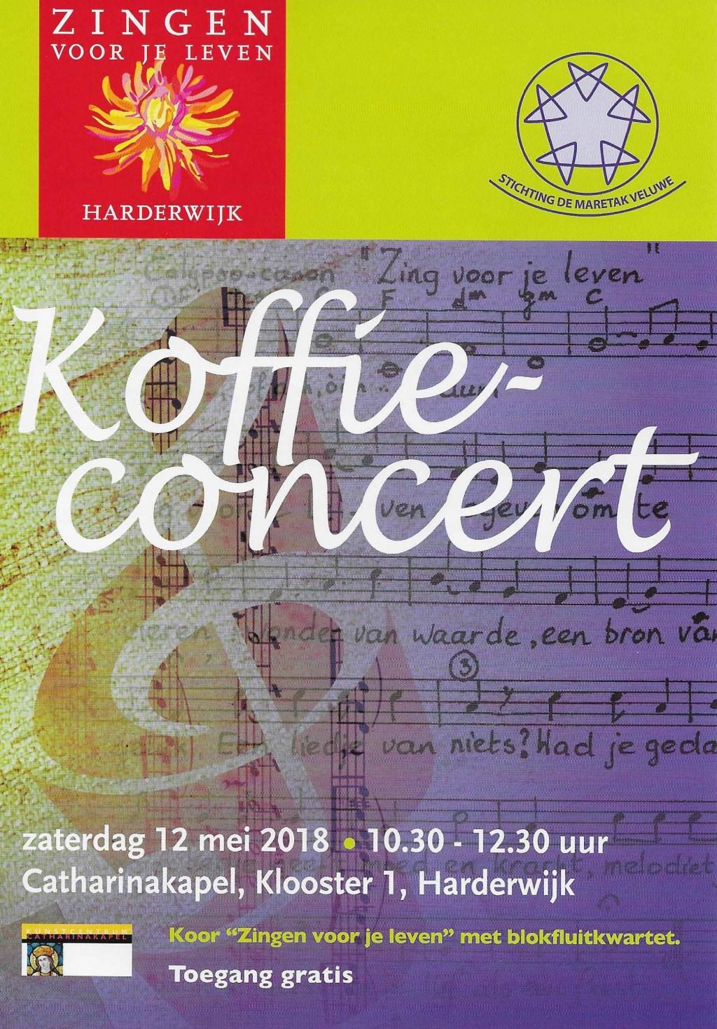 de flyer voor het koffieconcert.
