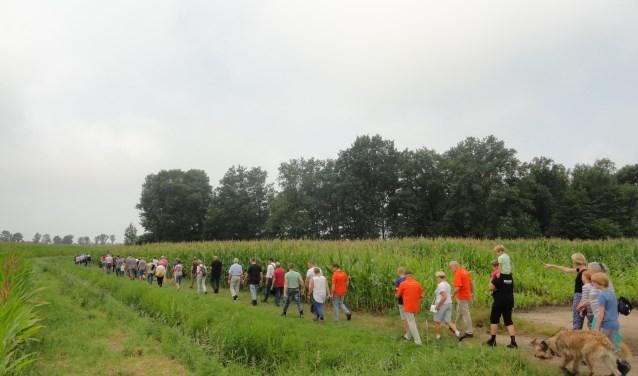 Deelnemers wandeltocht 2016.