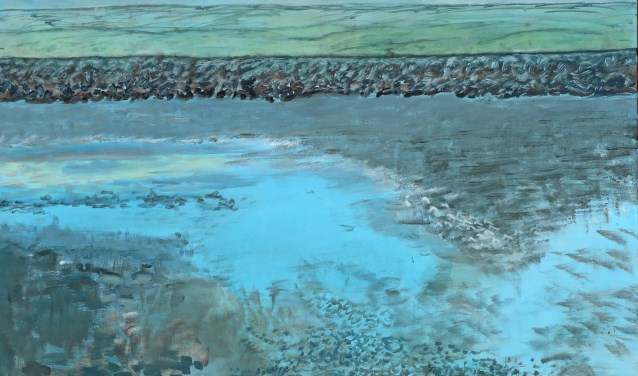 Een van de werken van Stiena Versluis. Schildersgroep Artemisia exposeert diverse werken tot en met 7 september.
