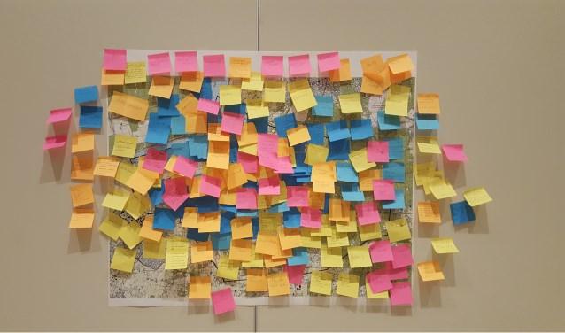 Herinneringen op de kaart van Putten. Foto: Iris Dracht