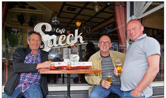 Richard de Wit, Jan van Egeraat en Paul Paassens (v.l.n.r.) houden een grote reünie.  FOTO: SONN FRANKEN