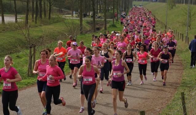 Zaterdag 2 juni kleurt Goes en omgeving compleet roze, door de vele honderden deelneemsters die dan meelopen met de Ladiesrun. FOTO: PR OMNIUM GOES